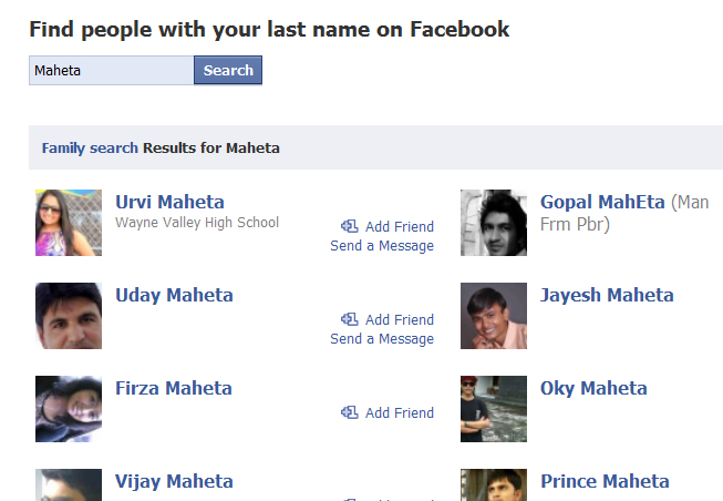 Facebook Family Search – Find Everyone With Last Name or Surname ...