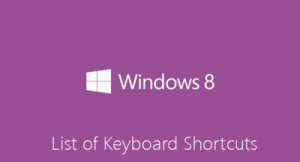 Windows 8 Shortcut Keys 2013
