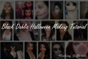 Halloween makeover and Black Dahlia