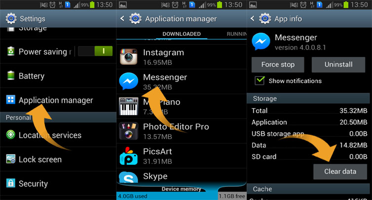 How to log out of facebook messenger on your android device how to log out of facebook messenger on your android device ccuart Image collections