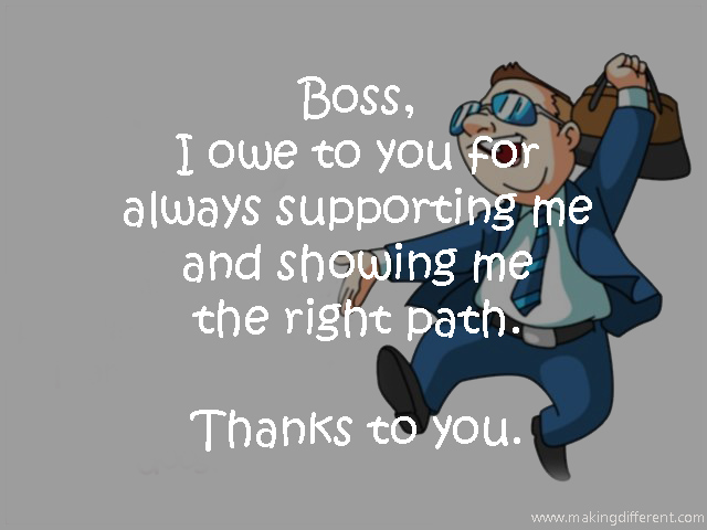 How to say thanks to the Boss or Manager